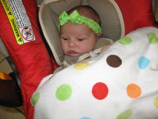 Andrah in carseat