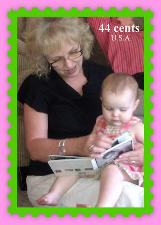 Grandma and Andrah Reading STAMP