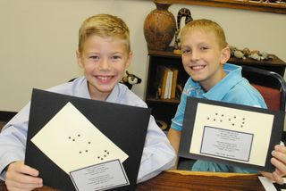 Showing Braille Crafts