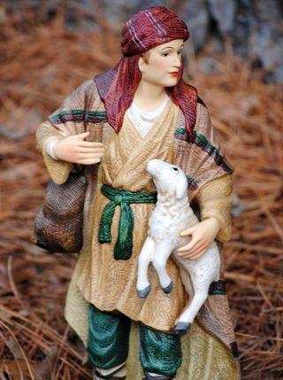 Shepherd & lamb